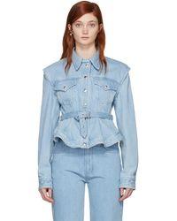 Marques'Almeida - Blue Denim Detachable Sleeve Jacket - Lyst