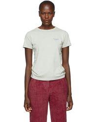 Acne Studios - Green Tight Logo T-shirt - Lyst