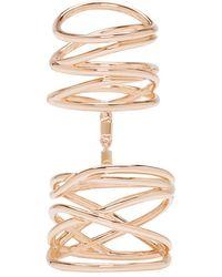 Repossi - Rose Gold Twin Ring - Lyst
