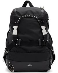 Valentino - Black Garavani Bounce Backpack - Lyst
