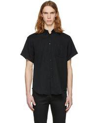 Naked & Famous - Black Short Sleeve Gauze Shirt - Lyst