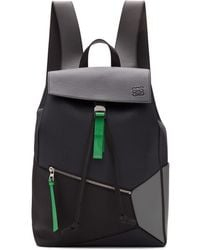 Loewe Grey And Blue Puzzle Backpack - Black