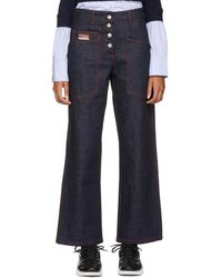 KENZO - Indigo And Red Workwear Jeans - Lyst