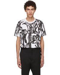 Givenchy | White And Black Iris Pocket T-shirt | Lyst