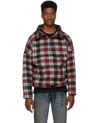 Reese Cooper - Red Plaid Wool Anorak Jacket - Lyst