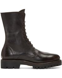 Guidi - Brown Leather Lace-up Boots - Lyst
