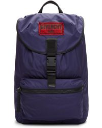 Givenchy - Navy Nylon Obsedia Backpack - Lyst