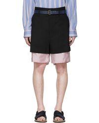 Marni - Black Bottom Stripe Shorts - Lyst