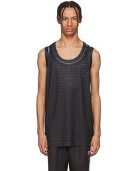 Alexander Wang - Black And White Basketball Jersey Tank Top - Lyst