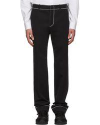 Givenchy - Black Zig Zag Stitch Trousers - Lyst