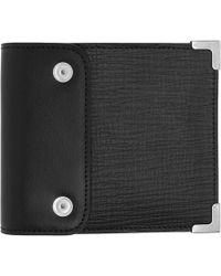 Maison Margiela - Black And Red Strap Bifold Wallet - Lyst