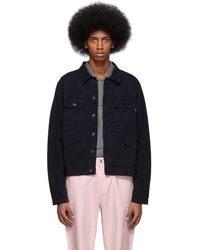 PS by Paul Smith - Navy Four-pocket Work Jacket - Lyst