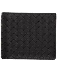 Bottega Veneta - Black Intrecciato Wallet - Lyst