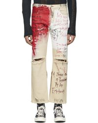 Faith Connexion - Off-white Tag Distressed Jeans - Lyst
