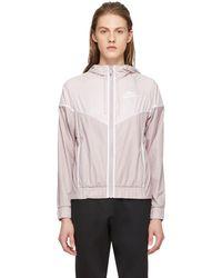 Nike - Pink Windrunner Jacket - Lyst