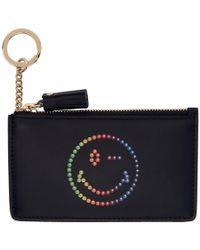 Anya Hindmarch - Navy Rainbow Wink Card And Key Holder - Lyst