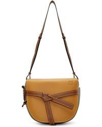 Loewe - Brown Small Gate Bag - Lyst