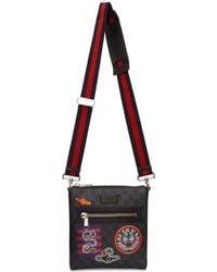 05e9597f727484 Gucci GG Supreme Messenger Bag In Black in Black for Men - Lyst