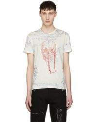 Alexander McQueen - White Explorer And Skull Thread T-shirt - Lyst