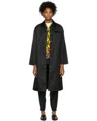 Prada - Black Long Trench Coat - Lyst