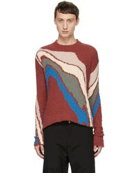 Kiko Kostadinov - Red Delva Body Intarsia Knit Jumper - Lyst