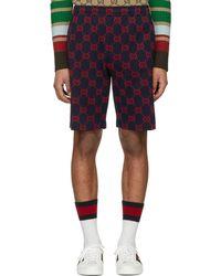 Gucci | Navy Signature Shorts | Lyst