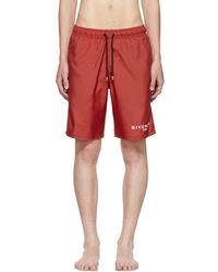 Givenchy - Red Logo Swim Shorts - Lyst