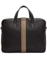 Paul Smith - Black Multistripe Portfolio Briefcase - Lyst