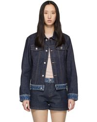 A.P.C. - Indigo Denim Cherry Jacket - Lyst