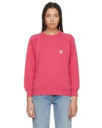 Maison Kitsuné - Red Fox Head Sweatshirt - Lyst