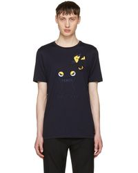 Fendi - Navy Butterfleyes & Frogs T-shirt - Lyst