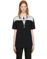 Marcelo Burlon - White And Black Wing T-shirt - Lyst