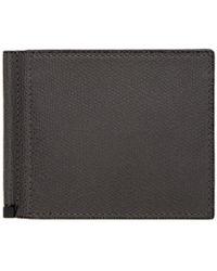 Valextra - Grey Simple Grip Spring Wallet - Lyst
