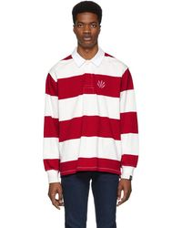 Rag & Bone - Red And Off-white Striped Rugby Polo - Lyst