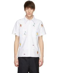 Thom Browne - White Beaded Tennis Player Cuban Shirt - Lyst
