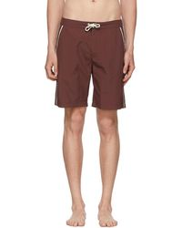 Solid & Striped - Burgundy Piped Board Shorts - Lyst