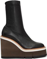 Clergerie - Black Britt Wedge Boots - Lyst
