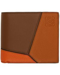 Loewe - Brown And Orange Puzzle Wallet - Lyst