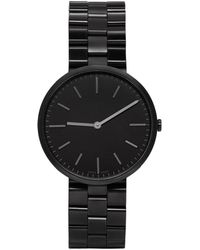 Uniform Wares - Gunmetal And Black Linked M37 Two-hand Watch - Lyst