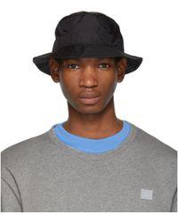 Acne Studios - Black Buk Face Tech Bucket Hat - Lyst