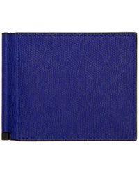 Valextra - Blue Simple Grip Spring Wallet - Lyst