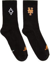 Marcelo Burlon - Black Ny Mets Short Socks - Lyst