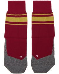 District Vision - Red And Yellow Falke Edition Sindo Socks - Lyst