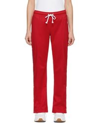Champion - Red Straight Hem Lounge Trousers - Lyst