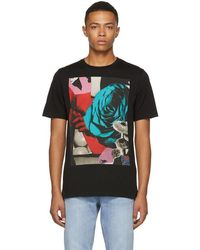 Paul Smith - Black Rose Panel Screen T-shirt - Lyst