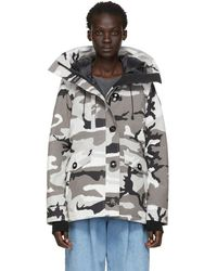Canada Goose - Grey Black Label Camo Down Rideau Parka - Lyst