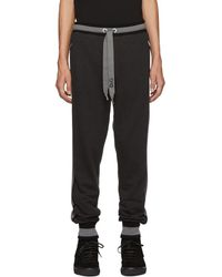 Dolce & Gabbana - Black And Grey Striped Lounge Trousers - Lyst