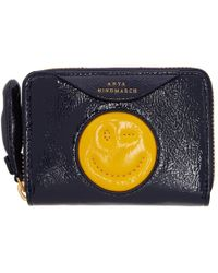Anya Hindmarch - Navy Small Chubby Wink Wallet - Lyst