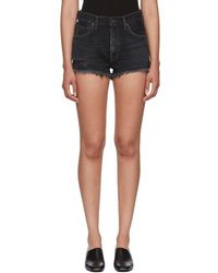 Citizens of Humanity - Black Danielle Cut-off Shorts - Lyst