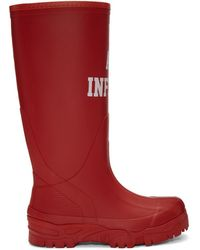 Undercover - Red We Are Infinite Rain Boots - Lyst
